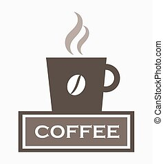 Coffee cup sign. Vector illustration