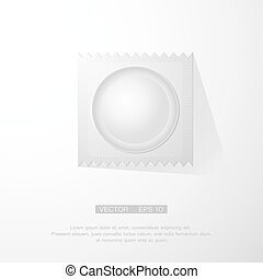 vector illustration of condom