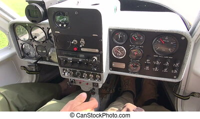 small sport aircraft console and starting moment