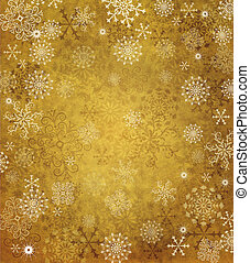 Old paper with snowflakes - Vintage old paper with...