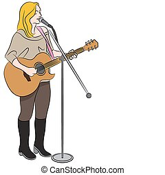 Female Country Western Singer - An image of a female country...