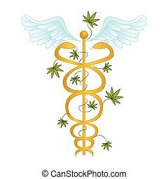 Medical Marijuana Caduceus