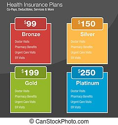 Health Insurance Plan Chart - An image of a health insurance...