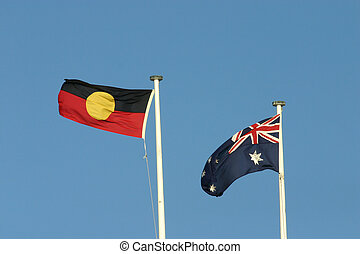 Aboriginal and Australia Flags - Aboriginal and Australian...