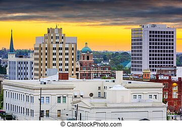 Macon Georgia Skyline - Macon, Georgia, USA downtown...