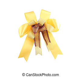 yellow ribbon. - yellow ribbon on white background with...
