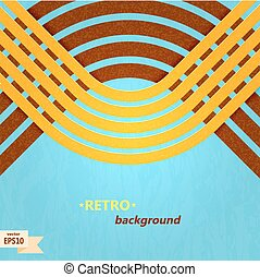 Abstract blue background with yellow stripes Vector...