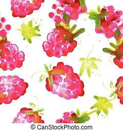 watercolor raspberry