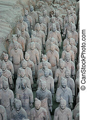 A group of the famous Terracotta warriors in Xian - China