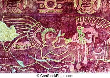 Murals in Teotihuacan - Teotihuacan with it's numerous...