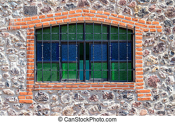 Leaded Window - A Leaded window in the mexican country side,...