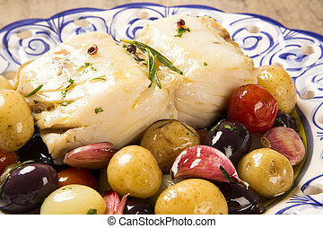 codfish - A typical Portuguese dish with codfish called...