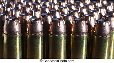 Plenty of bullets - Group of hollow point bullets that run...