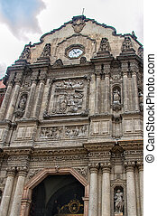 Guadalupe sanctuary - Facade of Our Lady of Guadalupe...