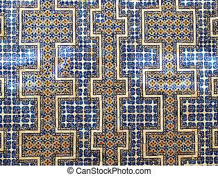 The Casa de los Azulejos wall - Wall of colourful Mexican...