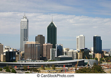 Perth Skyline from Kings Park - Western Australia.