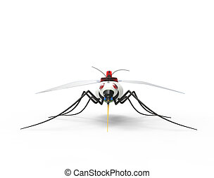Futuristic Mosquito Nano Robots - Concept of a Mosquito Nano...