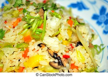 Vegetarian, pineapple fried rice