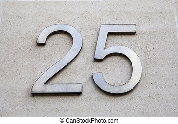 Number 25 - The Number 25 on a wall