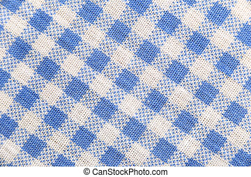 Texture blue fabric of scots pattern - Texture blue fabric...