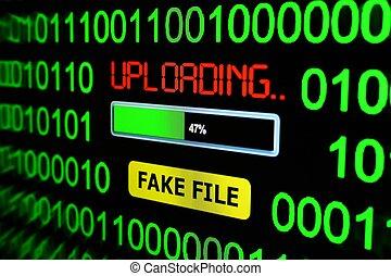 Upload fake file