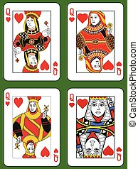 Four Queens of Hearts