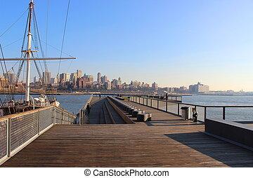 Newyork Manhattan harbor - NewYork in a harbor in Manhattan...