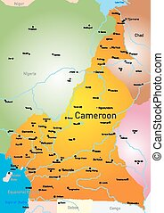 Cameroon - Vector color map of Cameroon