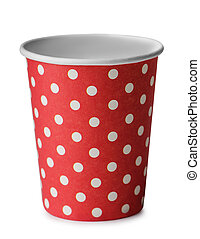 Cardboard cup - Red cardboard cup on a white background