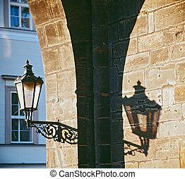 ancient gas lamp