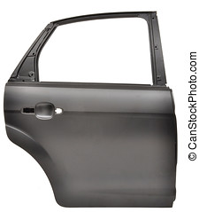 car door - spar metal plate car door isolated