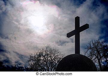 Cross on a spherical socket - A cross on a spherical socket...