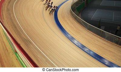 Cycling in a curve