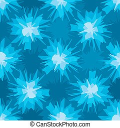 Scratchy blue blot seamless pattern - Abstract scratchy blue...