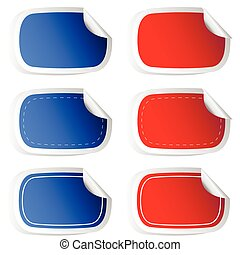 sticker blue and red vector