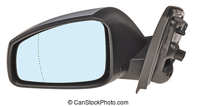 rearview miror - car rearview side miror isolated