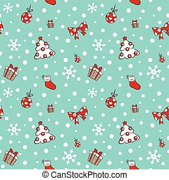Christmas tree and gifts pattern