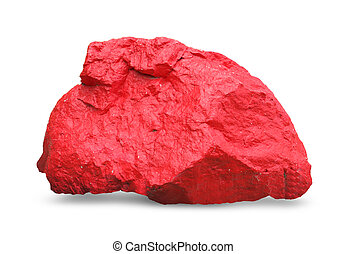 Red stone, Isolated on a white background.