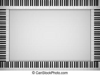 piano, marco, teclado