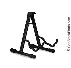 Guitar stand on a white background
