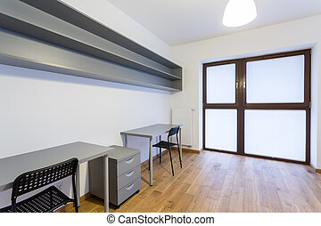 Small office at home - Horizontal view of small office at...