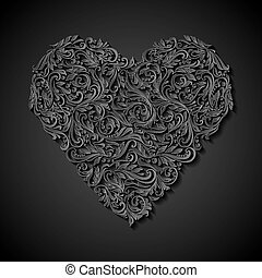 Decorated heart
