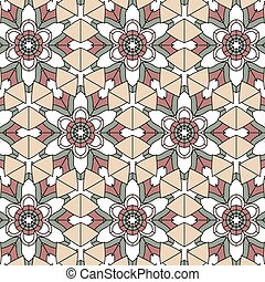 vintage color ethnic ornament patt - Lace floral colorful...