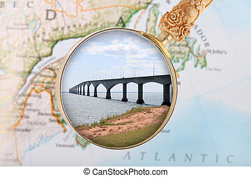 Confederation Bridge, Canada - Looking in on the...
