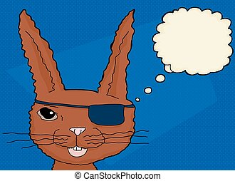 Outline of Rabbit with Augmented Vision - One outlined...