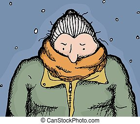 Shivering Clipart and Stock Illustrations. 119 Shivering ...
