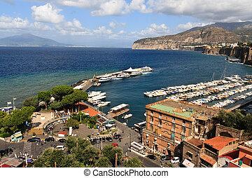 Sorrento, Italy - View across the bay, Sorrento, Italy