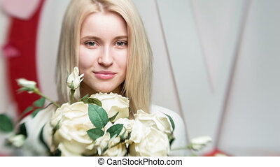 beautiful woman in a romantic style