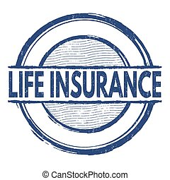 Life insurance stamp - Life insurance grunge rubber stamp on...