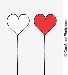 Two hearts. Vector illustration